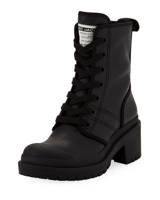 4356ec31d9e Marc Jacobs Bristol Lace-Up Chunky-Heel Leather Combat Boot