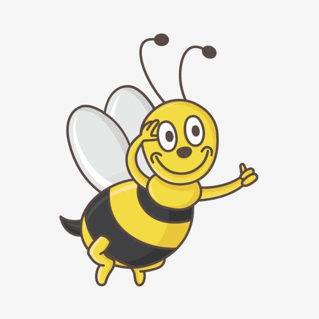 Lebah Versi Bee Q Versi Q Lebah Comel Vektor Dan Png Lebah Kartun Ilustrasi