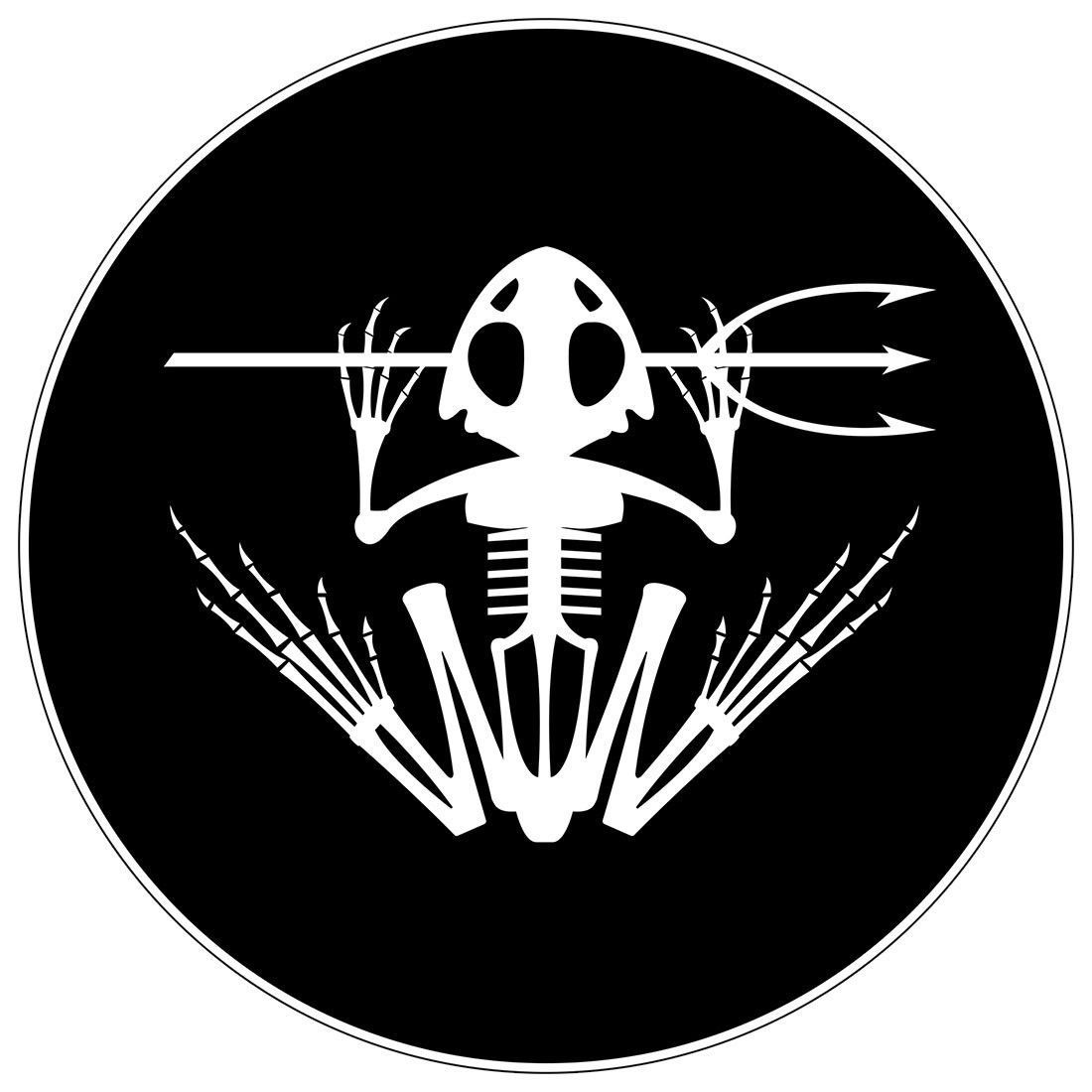 Navy Seal Frog Stickers Various Sizes Available Frogman Udt 0036