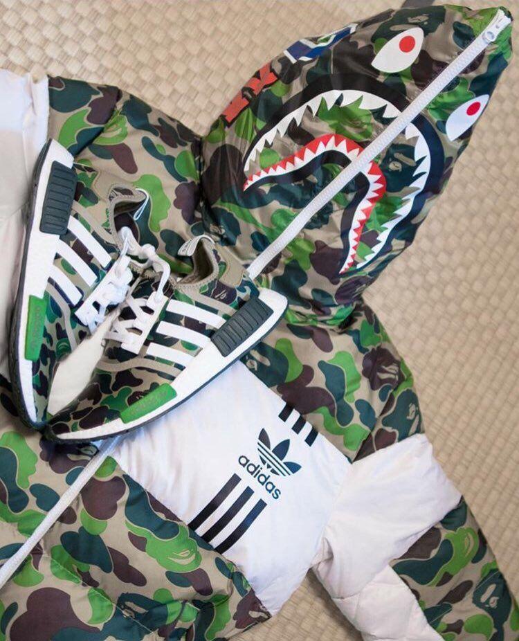 Bape x Adidas Shark Down Jacket