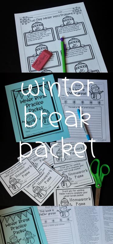 Winter Break Homework Packet - Print & Go | Winter breaks, Word ...