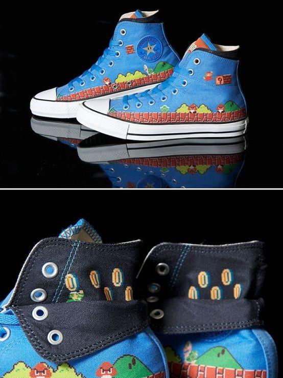72deb277bc77d7 Super Mario Converse Shoes