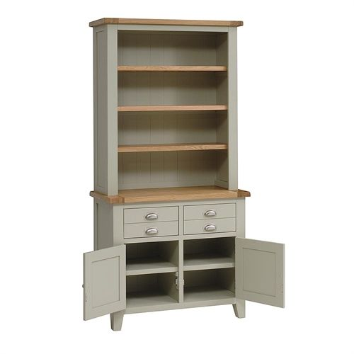 Houghton French Grey Dresser With Shelves Including Free Delivery