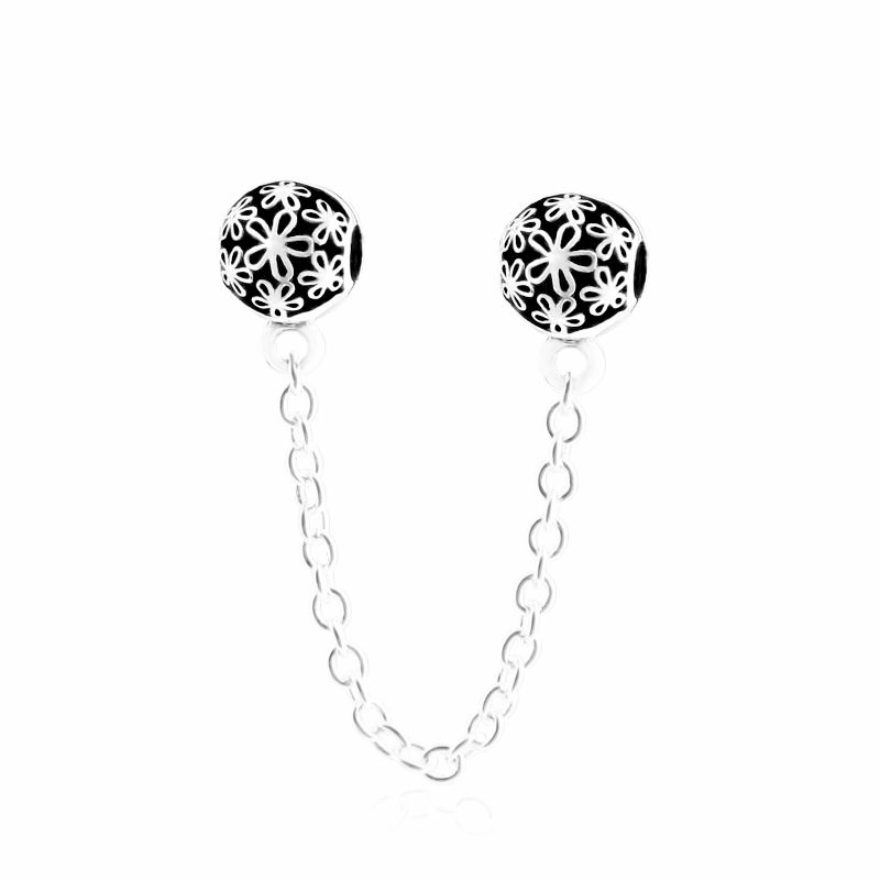 Dizzy Daisy Safety Chain; 925 Sterling Silver. SKU: SCH0006