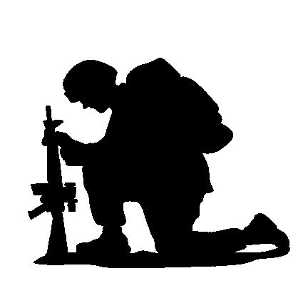 The Kneeling Soldier Original Decal Black From The Kneeling Soldier Store Soldier Silhouette Remembrance Day Art Silhouette Art