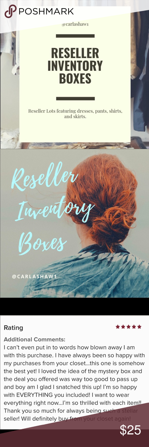 Reseller Inventory Boxes Resell, Inventory, Brand me
