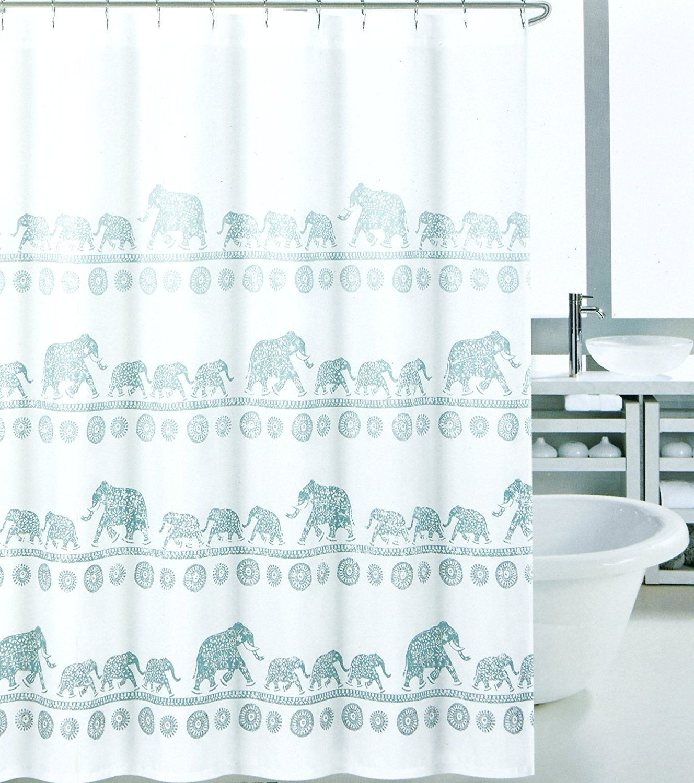 Amazon Com Elephant Mandala Shower Curtain Modern Vintage