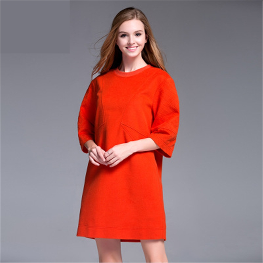 46.29$  Watch here - http://aliugh.shopchina.info/go.php?t=32786894247 - Women Maternity Dress Clothes Plus Size Vestido For Pregnant Loose High Quality Solid Big Size Woolen Dress 2017 Fashion 70R0146 46.29$ #magazineonlinebeautiful