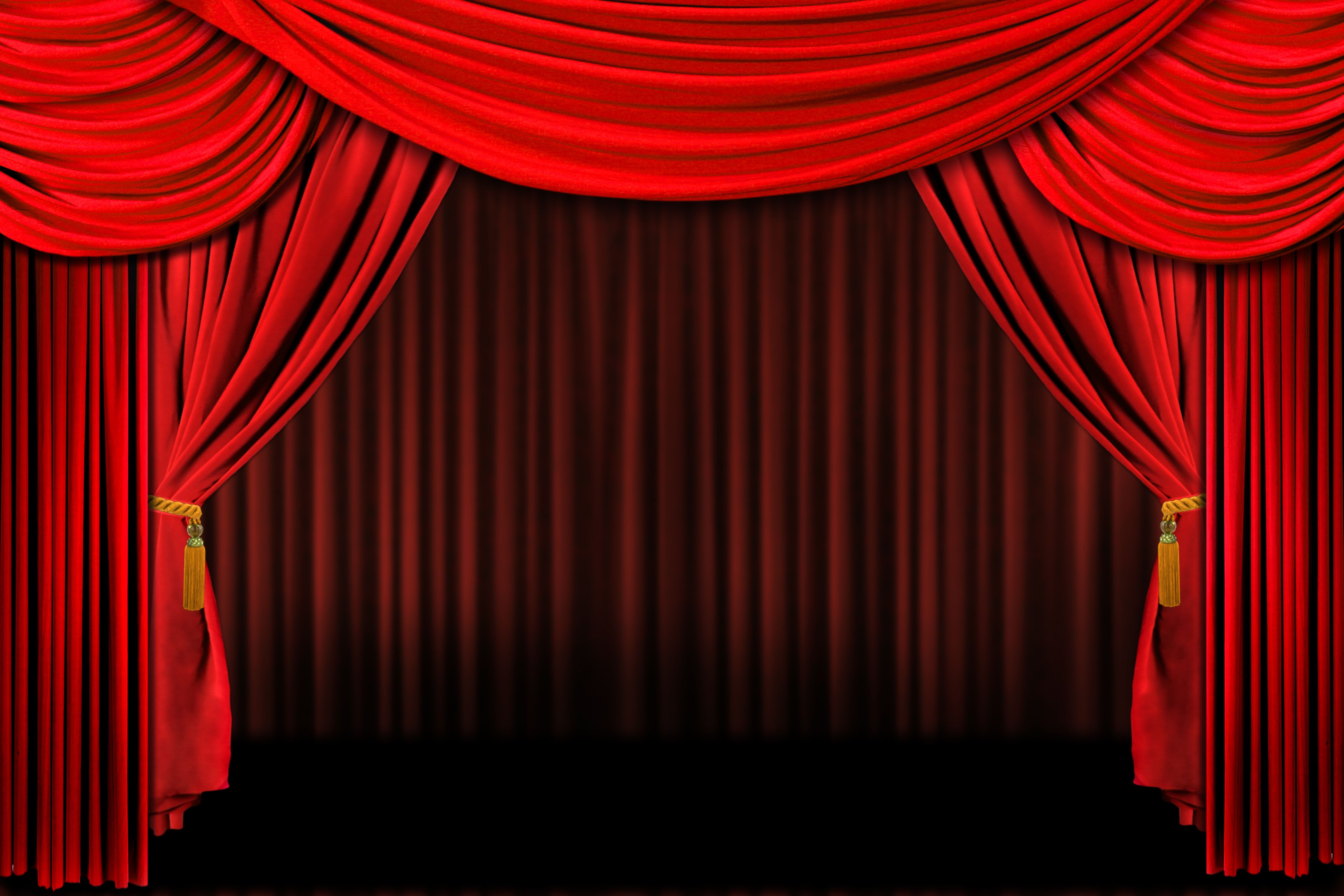 Award Background Red Curtains Curtain Backdrops Stage Curtains