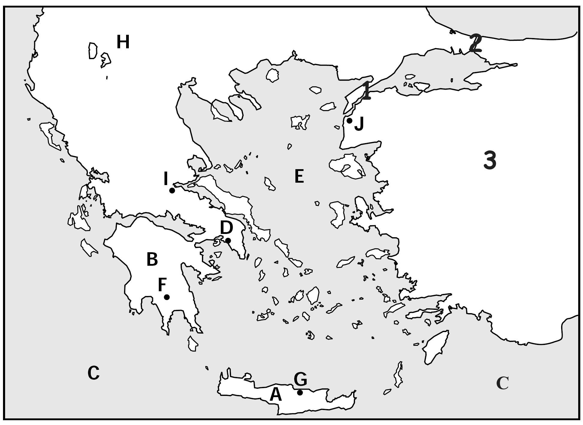 Blank Map Of Ancient Greece