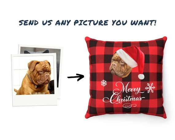 Pet Pillow - Dog Pillow - Custom Face Pillow For Christmas - Funny Personalized Gifts - Custom Pillo