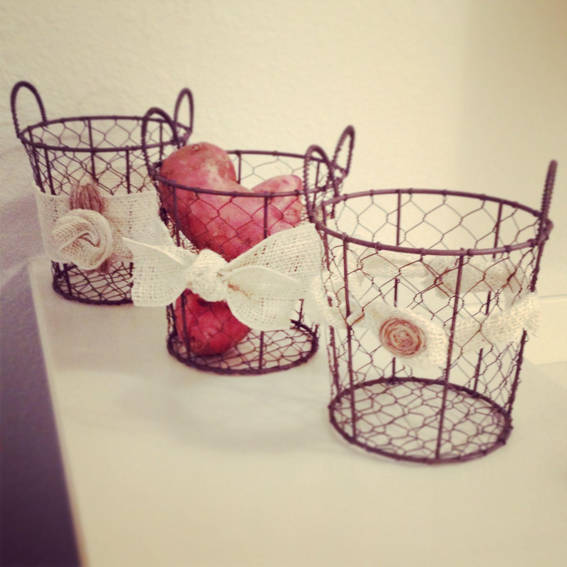 wire baskets for my kitchen!