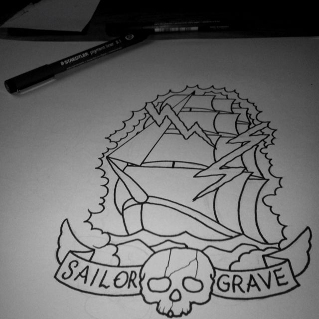 Sailor grave. Tattoo