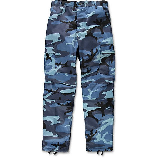 Rothco BDU Sky Blue Camo Cargo Pants ( 45) ❤ liked on Polyvore featuring  pants b8afce48f6