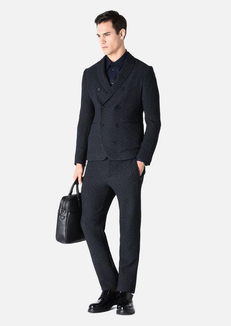 Vestiti Eleganti Uomo Armani.Giacca Doppiopetto In Tessuto Goffrato Giacche Eleganti Uomo By