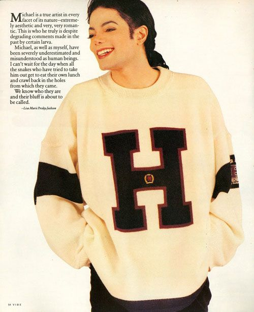 d780fbc25 When Michael Jackson wore this sweater in Vibe magazine. | 18 Epically '90s Tommy  Hilfiger Moments