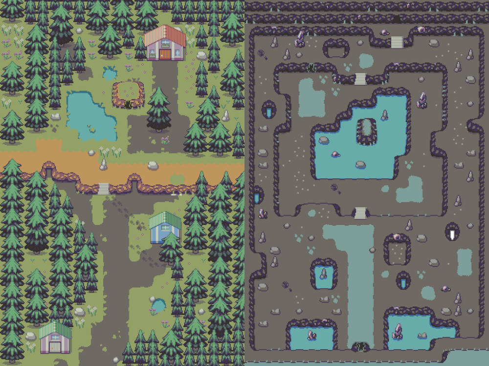 Working away at a tileset! PixelArt in 2020 (With images