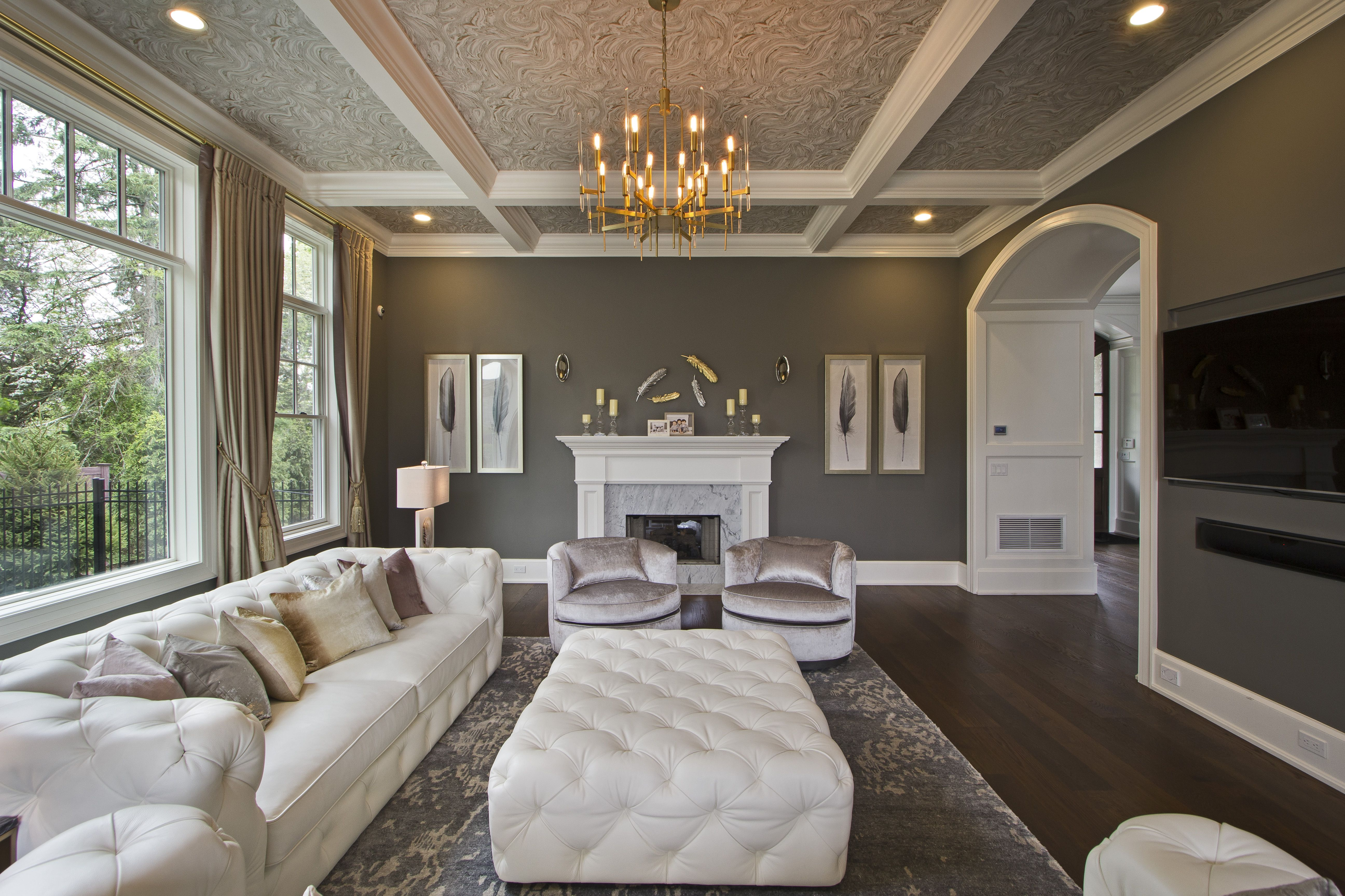 Glamilistic Living Room With Pastel Colors Scheme With A Beautiful Ceiling In Old Tappan Nj Interior Design Interior Design #pastel #colours #for #living #room