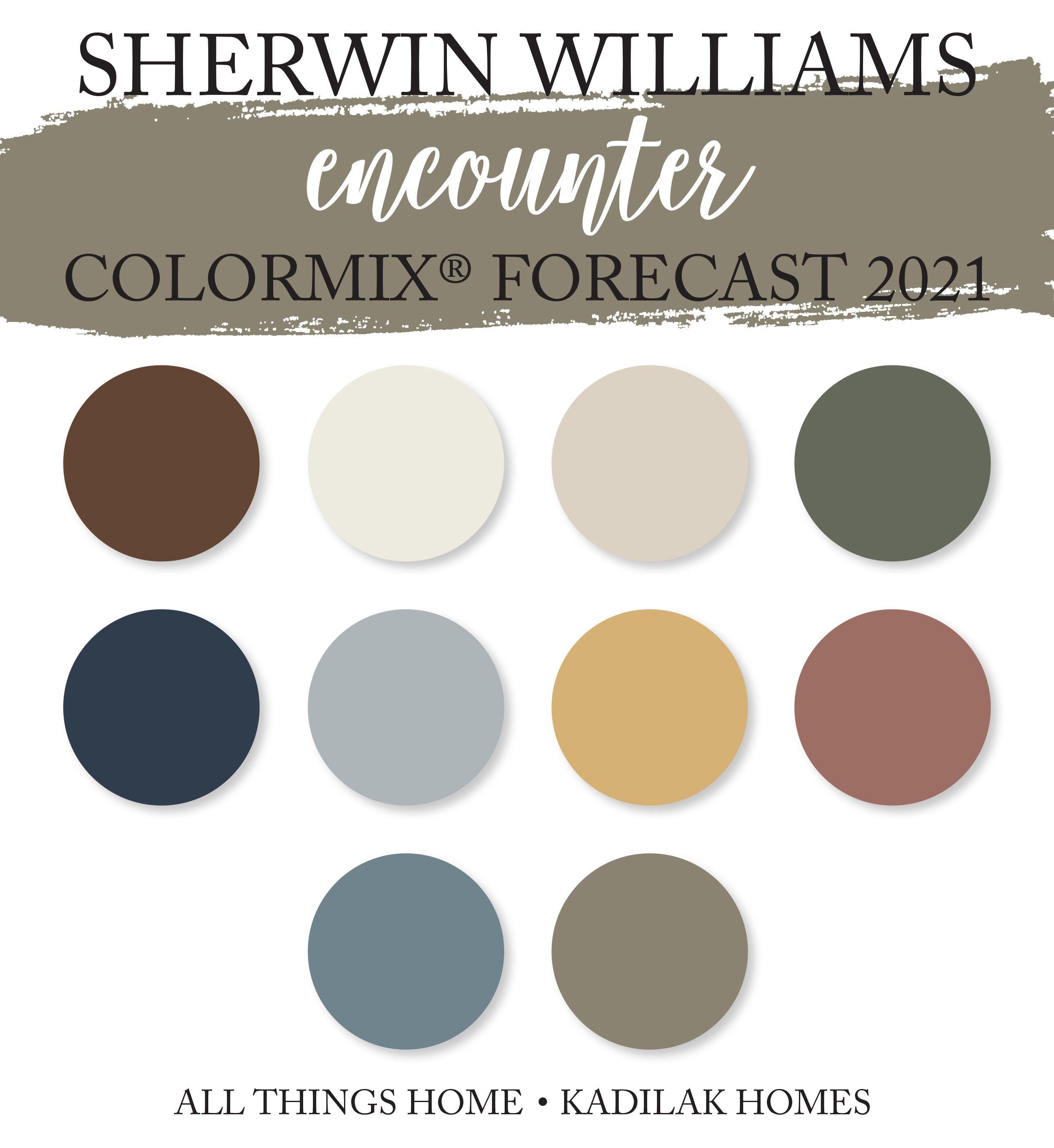 Sherwin Williams Colormix® Forecast 20   Trending paint colors ...