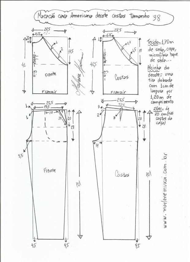 mono-sisa-americana-38 | Patrones de costura | Pinterest | Mono ...