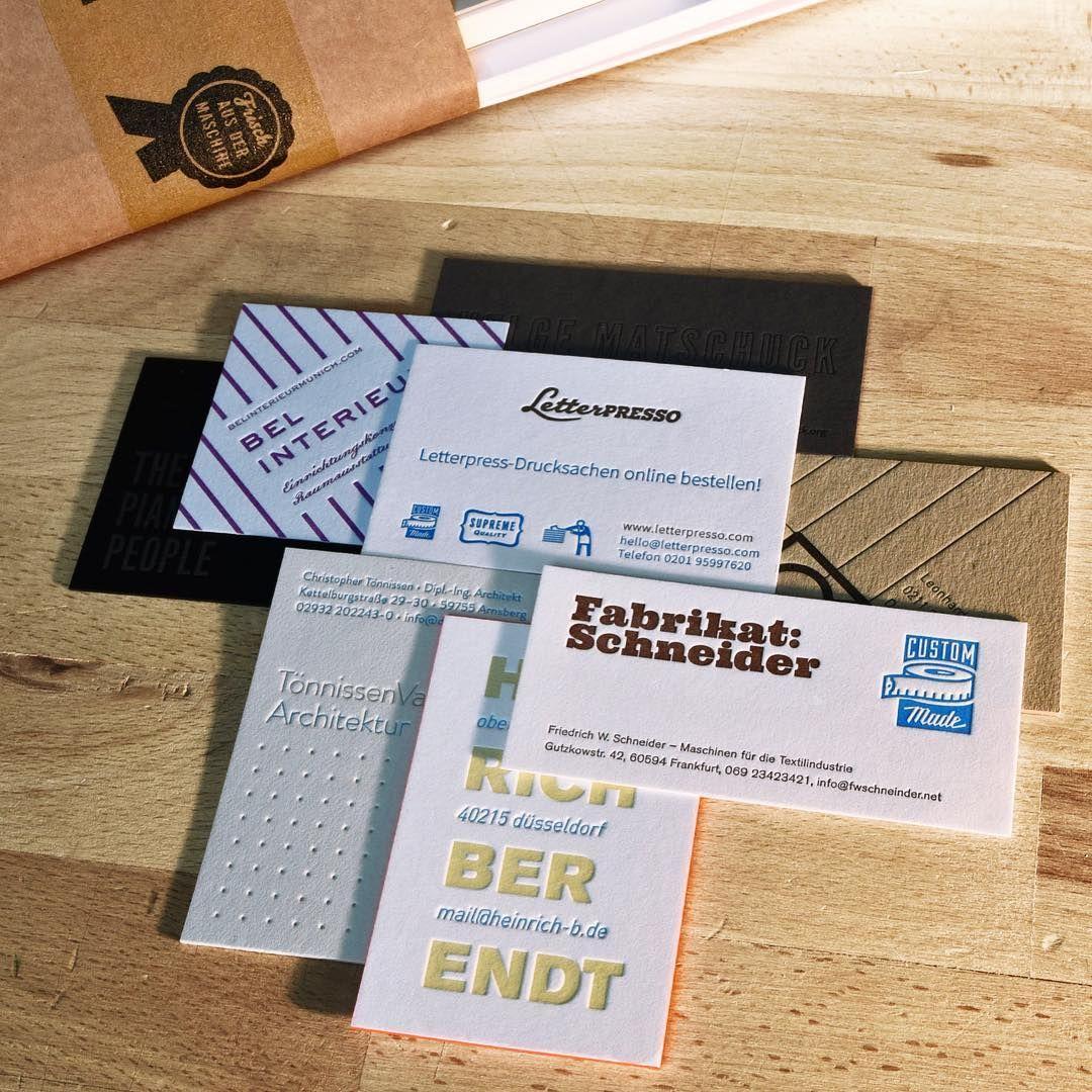 Letterpress Visitenkarten Online Drucken Lassen Bei Unserem