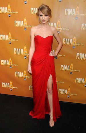 Celebs red dress