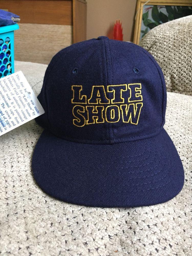 e68a7df8c9d Late Show Navy Wool Hat Size 7-1 4 Cap Baseball Hat Ebbets Field Flannels  NWT