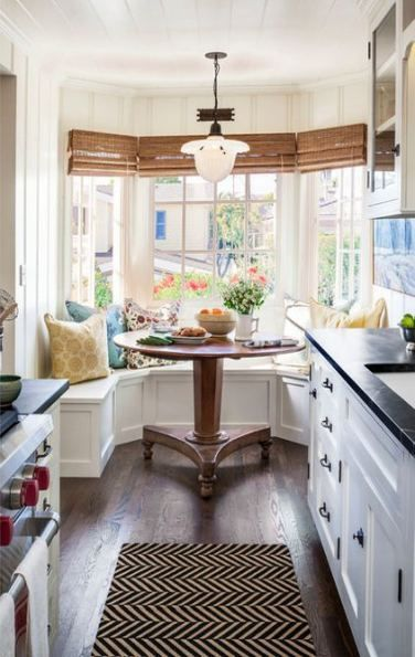 1980 S Home Remodel Living Spaces Kitchen Coastal Colors: 30+ Ideas For Kitchen Window Bench Breakfast Nooks Small Spaces #kitchen (With Images)