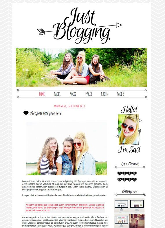 Blogger template blog design xml just blogging black blogger template blog design xml just blogging black fuchsia pronofoot35fo Images