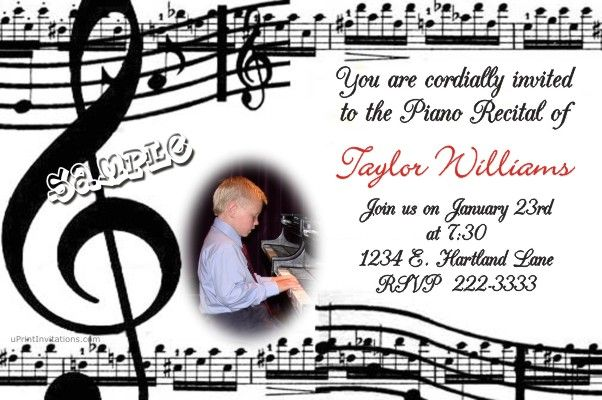 Music Recital Invitations Get these invitations RIGHT NOW Design - create invitations online free no download