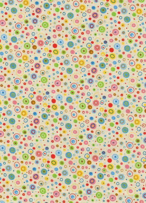 Polka dot fabric by Linda Solovic