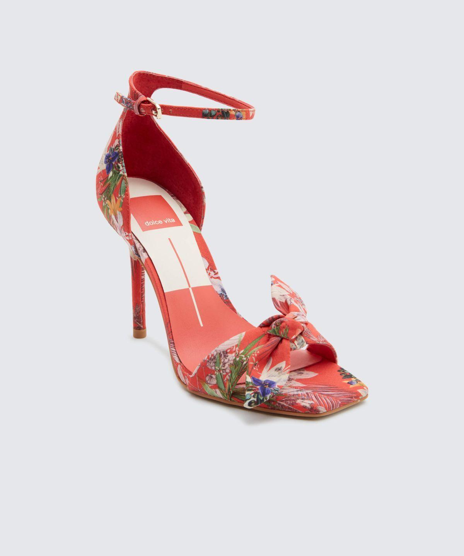 Helana Heels Dolce Vita Heels Ankle Strap Heels Red High Heel Pumps