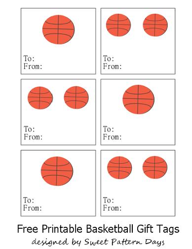 Printable Basketball Gift Tags Basketball Gifts Team Gifts Gift Tag Design