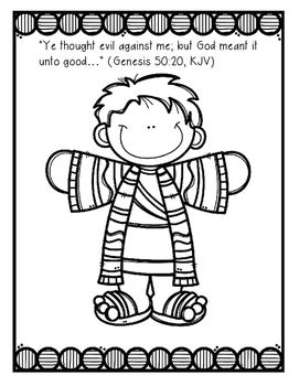 Joseph and his coat of many colors Bible Lesson (All About