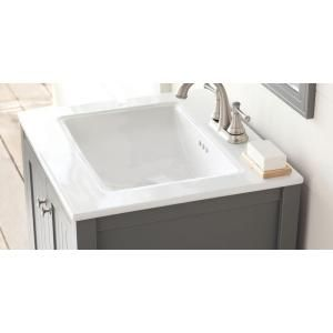 Home Decorators Collection Cranbury 24 5 In W X 22 In D X 34 25 In H Vanity In Cool Gray With Ceramic Vanity Top In White With White Sink D10024 12w The Ho