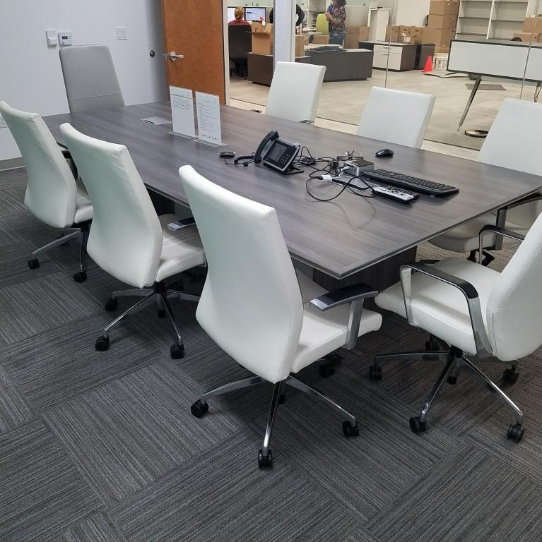 10 Foot Used Conference Table By Deskmakers The Conference Table Has Power Data Conference Table Table Conference Room Tables