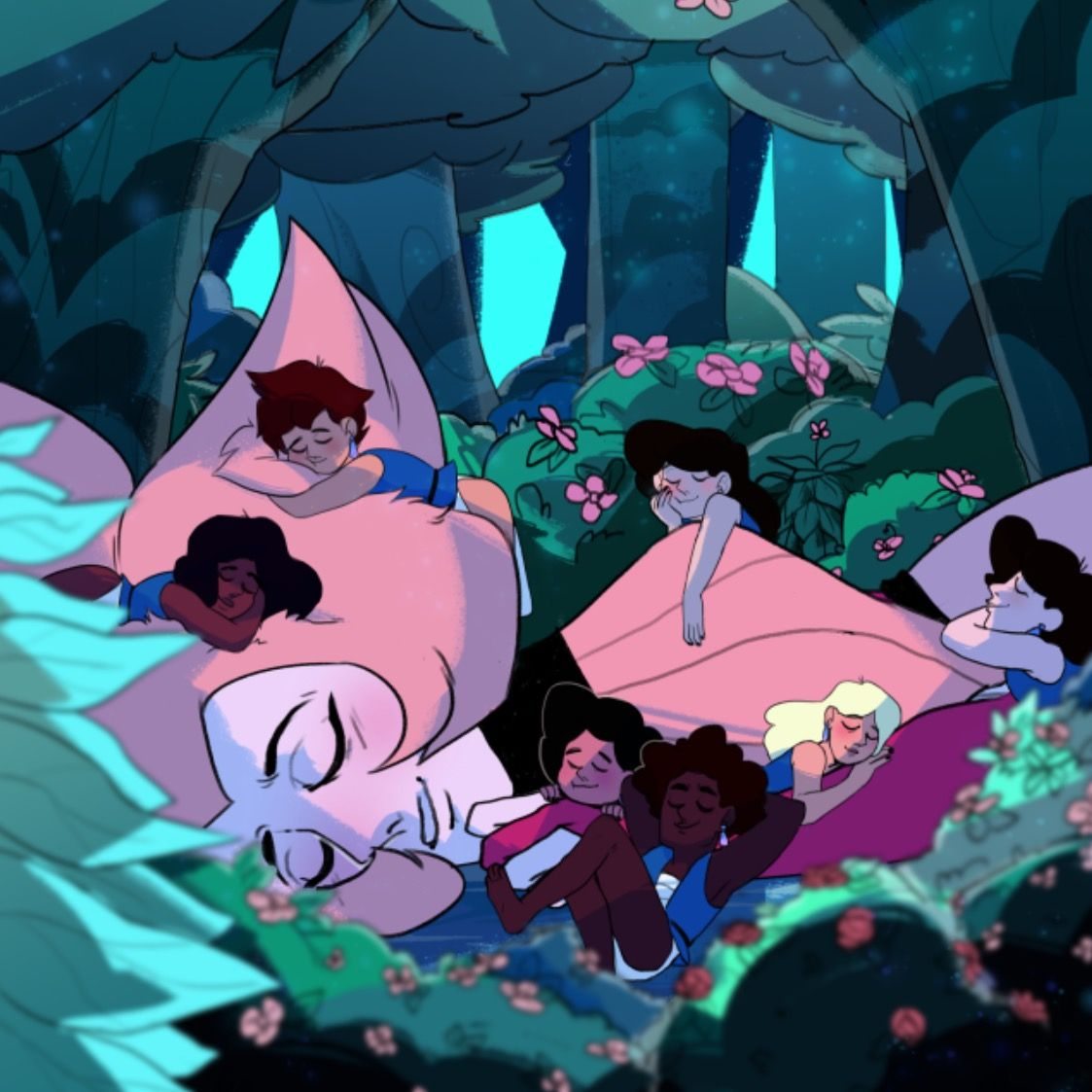 Pink Diamond and the Zoo Humans