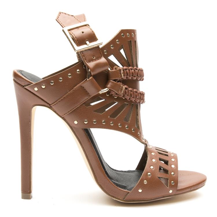 9377d0941e4 Isoul studded gladiator sandal - chestnut | Shoe Addict | Sandals ...