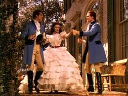 Scarlett O Hara With The Tarleton Twins In The Opening Scene Of Gone With The Wind Gone With The Wind Wind Movie Scarlett O Hara