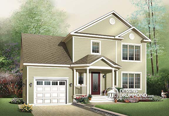 Plan de Maison unifamiliale W3439, champêtre, country, house style