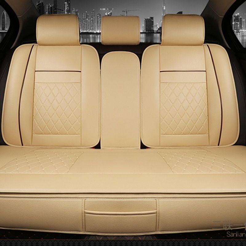 Waterproof Back Rear Car Seat Covers Universal PU Leather