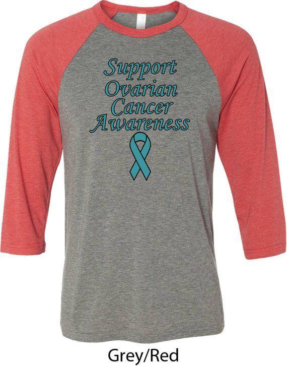 2c1e0de37f Men's Support Ovarian Cancer Awareness Raglan Shirt SOCA-3200 in ...