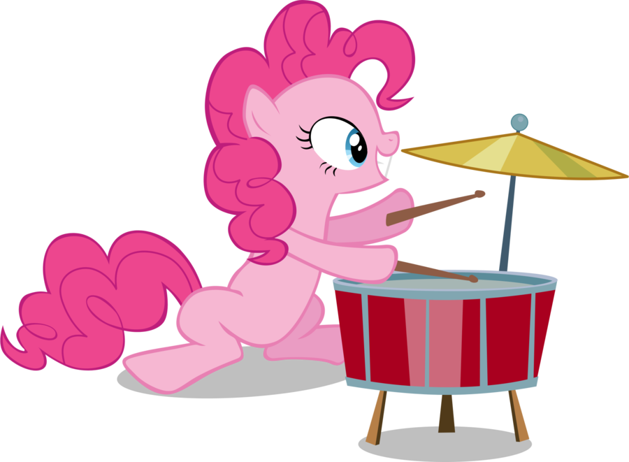 Pinkie Plays Drums By Ahumeniy On Deviantart My Little