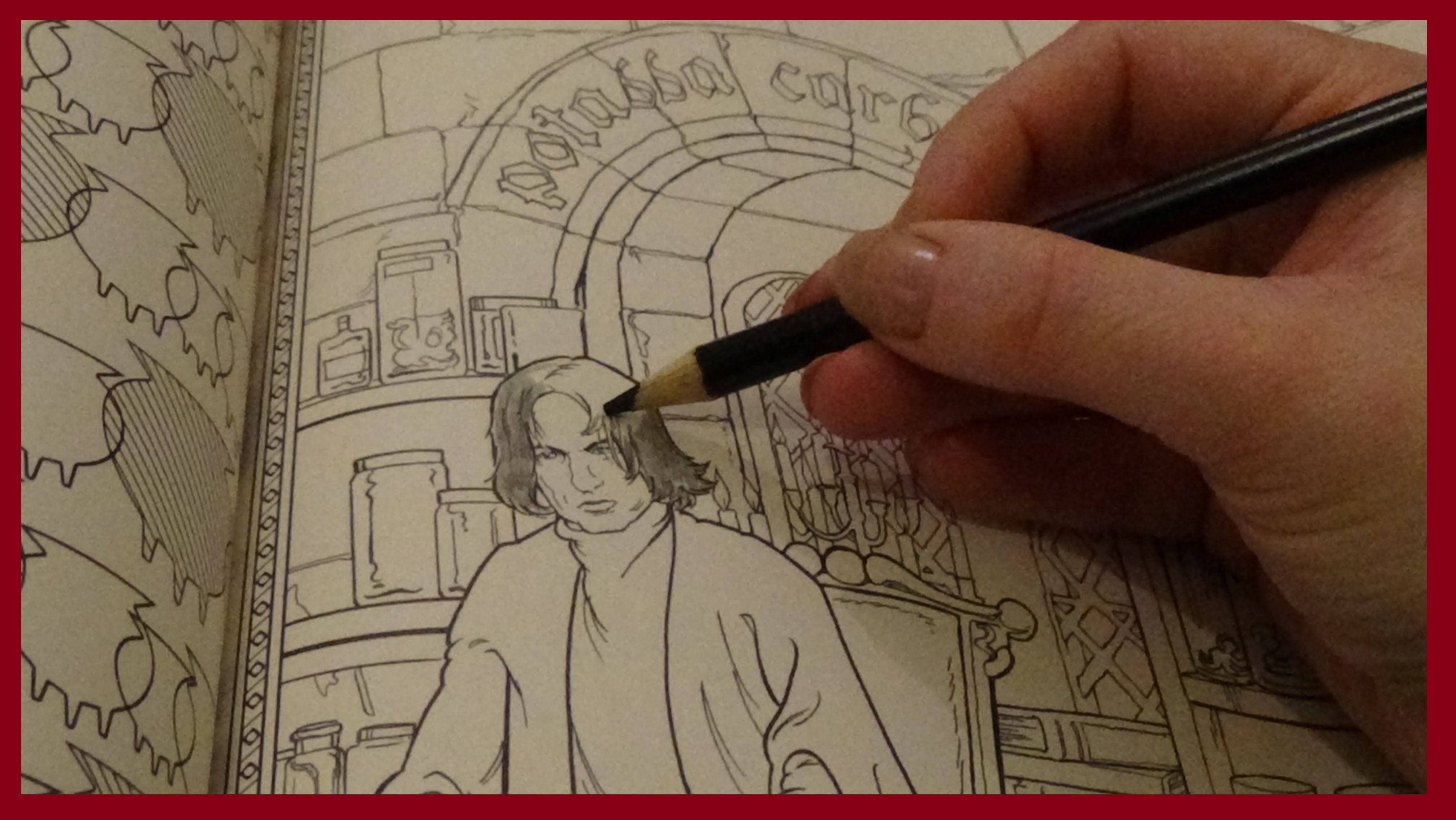 ASMR Harry Potter Colouring Snape