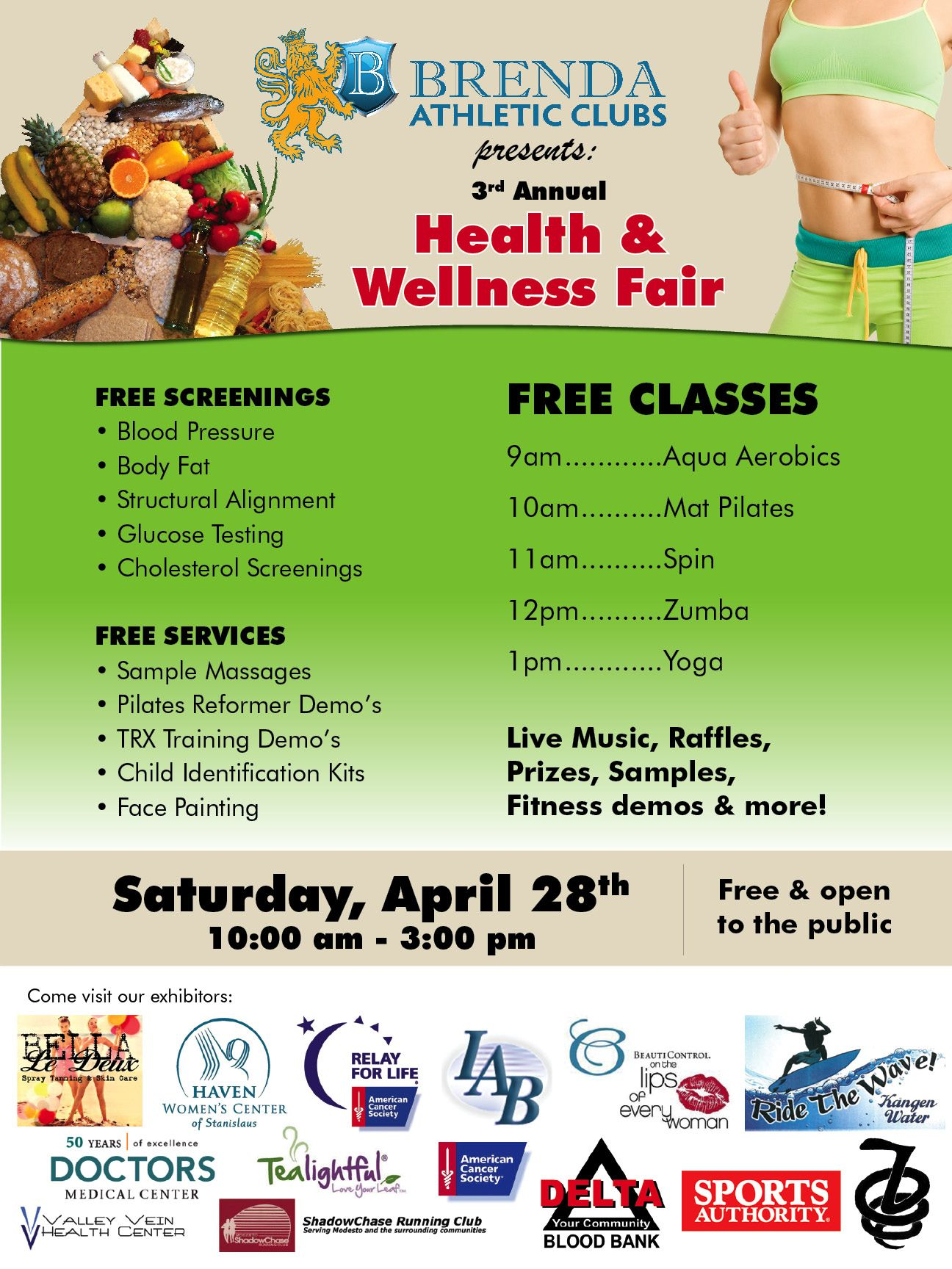 Join us for our 3rd annual brenda athletic clubs health