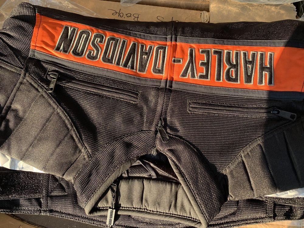 ba971b3b5c5591 Harley-Davidson Men's Trenton Colorblocked Mesh Riding Jacket Black ...