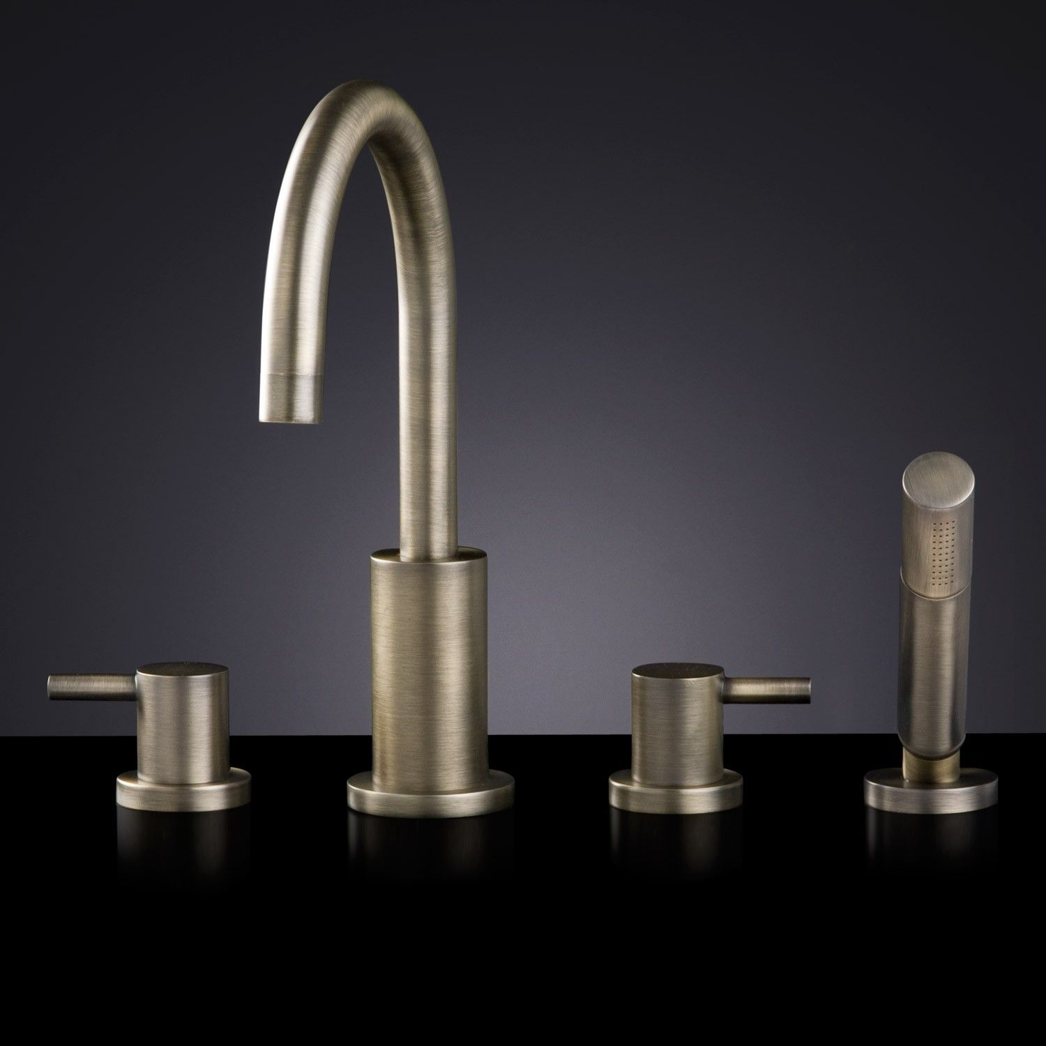 Rotunda Roman Tub Faucet and Hand Shower | Faucet, Tubs and Roman