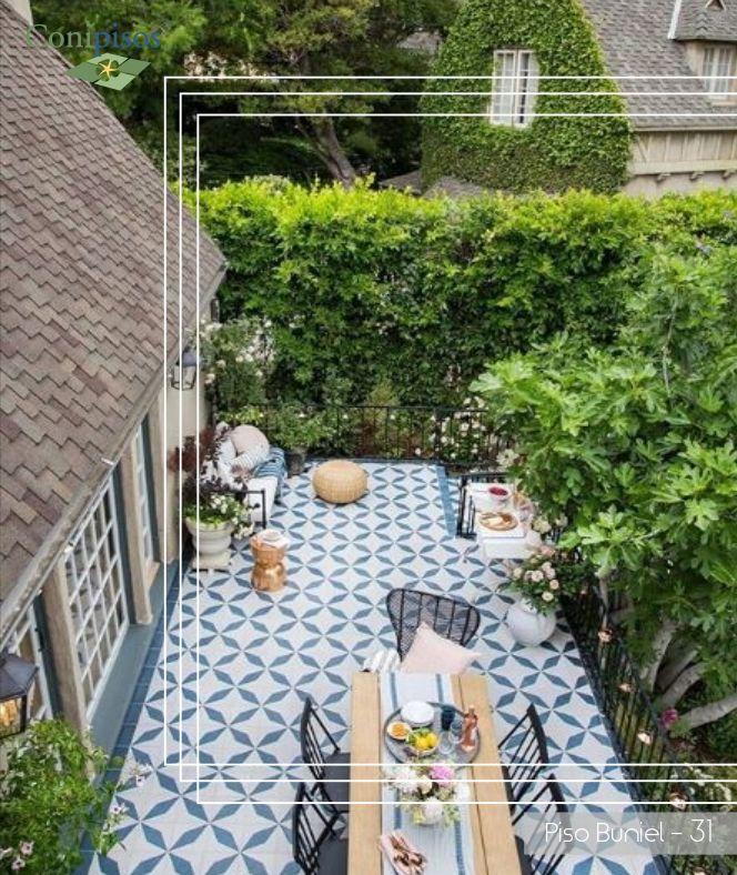 Azulejos Mosaicos Baldosas Pisos En La Terraza Y Jardin Cement Tile Shop Spanish Patio Concrete Tiles