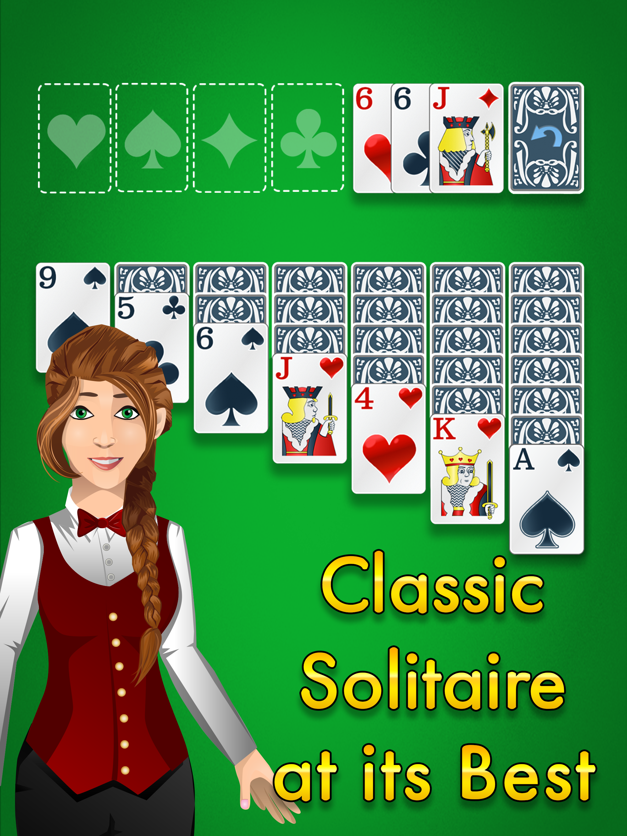Glowing Eye Games presents Solitaire Classic Gold for your