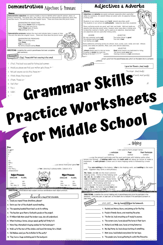 Grammar Practice For Middle School Grammar Worksheets Grammar Practice Grammar Skills [ 1500 x 1000 Pixel ]